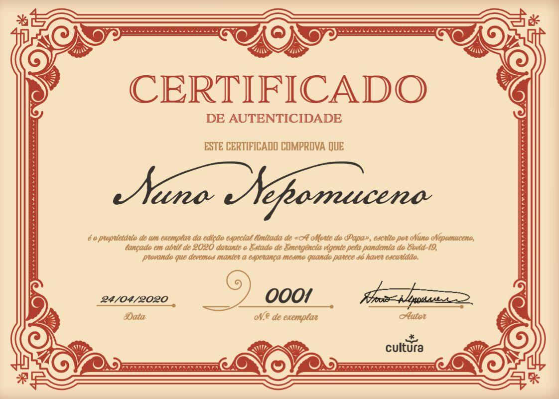 Wook.pt - Certificado de Autenticidade