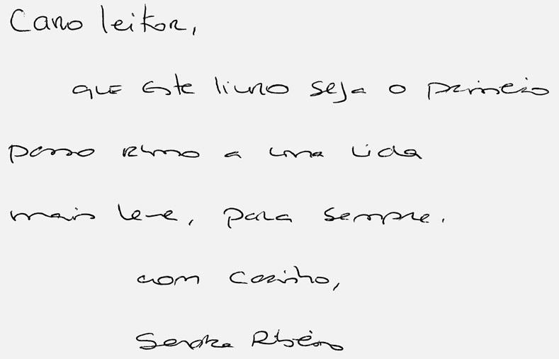 Wook.pt - Mensagem manuscrita de Sandra Ribeiro para os leitores da Wook
